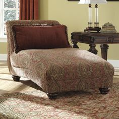 Shay 39 s lounge on pinterest z boys chaise lounges and for Aico trevi leather armless chaise in brown