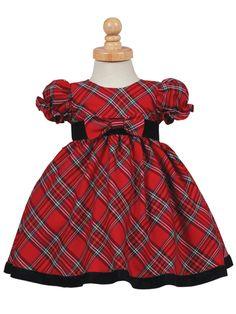 417018094 Lito Red Plaid Dress | Baby and Toddler Christmas Plaid Dress | Traditional  Plaid Holiday Girls Dress