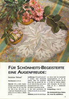 Kira knitting: Scheme knitted tablecloths 12