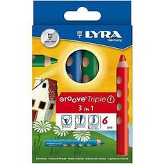 Lyra Groove Triple 3 in 1 Color Pencil Set, Pack of 6 (Japan Import) Pencil Drawings, Art Drawings, Drawing Art, Lead Boxes, Wax Crayons, Presents For Kids, Watercolor Pencils, Sewing Stores, Colored Pencils