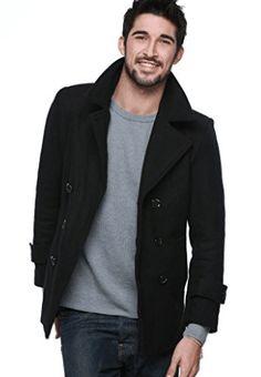 Off, Mens Classic Wool Pea Coat, Black Winter Coat Winter Trench Coat, Black Winter Coat, Mens Winter Coat, Black Wool Coat, Winter Coats, Oversized Fashion, Mens Wool Coats, Men's Coats And Jackets, Women's Coats