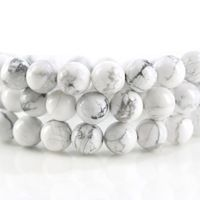 High Quality AAA + Howlite Beads White Round Shape Natural Stone Beads Bracelet Necklace DIY Jewelry Making 6/8/10 MM