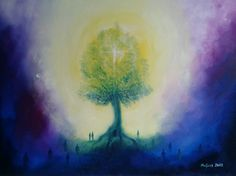 the tree of life (oil painting)