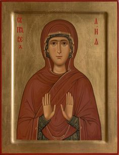 Anna - mother of the Theotokos Byzantine Icons, Orthodox Christianity, Art Icon, Orthodox Icons, Christian Art, Religious Art, Madonna, Folk Art, First Love