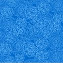 Floral Etching in Blue