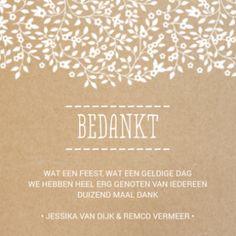 Uitgelezene De 31 beste afbeeldingen van Bedankkaarten huwelijk | Trouwdag SS-89