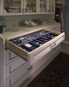 jewelry drawers-master closet idea