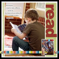 Read. digital layout by clairbug    Great page-love the simplicity