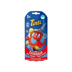 TINTI - MAGIC BATH 3-PK - TINTI - Gjør kveldsbadet til en magisk opplevelse med tryllebad fra Tinti. Slipp en kule i badevannet, og det skifter farge. En liten svampefigur skjuler seg inni kulen. Barn elsker Tinti! Farger ikke hud eller badekar. Dermatologisk testet. Pakken inneholder: 1 blå,