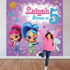 Shimmer and Shine Birthday Party Backdrop - Personalized Birthday Banners and Backdrops - Personalized Shimmer & Shine Party Decorations