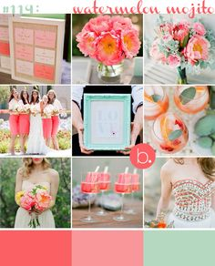 #113: watermelon mojito, coral and mint, whatever you want to call it. my wedding colours.