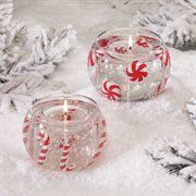 Holiday Cheer Peppermint Candy Christmas Gel Candles