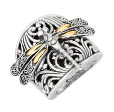 Designer 18k Gold & Sterling Silver Dragonfly Large Ring Beauniq,http://www.amazon.com/dp/B00D7NK0Z2/ref=cm_sw_r_pi_dp_0.L7sb0MFH354G75