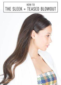 sleek wedding hair Hair How-To: A New Twist on Half-Up Hair Wedding Hair Down, Wedding Hair And Makeup, Bridal Hair, Sleek Hairstyles, Down Hairstyles, Wedding Hairstyles, Teased Hairstyles, Natural Hairstyles, Bridesmaid Hair