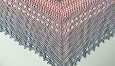 Bella Vita Shawl crochet bottom close-up