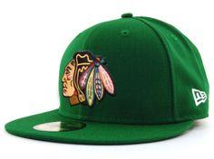 Chicago Blackhawks Green Cap by New Era   Sports World Chicago $34.95