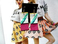 Handmade earrings Pink earrings Pair of earrings by TheFormaClay