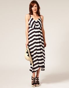 French Connection Maternity Broad Stripe Jersey Sun Dress $141.36