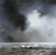 Gerhard Richter Seestück (Welle) Seascape (Wave) 1969 200 cm x 200 cm… Gerhard Richter, Sky Painting, Seascape Paintings, Landscape Paintings, Art Paintings, Museum Of Modern Art, Art Museum, Abstract Landscape, Abstract Art