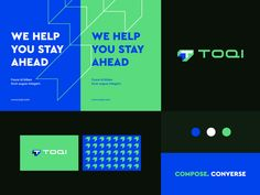 Toqi - Identity system designed by Ahmed creatives. Connect with them on Dribbble; the global community for designers and creative professionals. Identity Design, Brochure Design, Visual Identity, Brand Advertising, Advertising Services, Corporate Branding, Corporate Design, Identity Branding, Graphic Design Posters