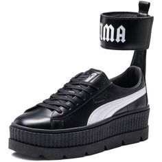 febfbcb6b9e Fenty Puma x Rihanna Women s Leather Ankle Strap Platform Sneakers ( 81) ❤  liked on