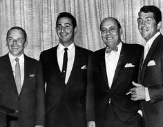 Frank Sinatra, Sandy Koufax, Buzzie Bavasi and Dean Martin at a star-studded dinner honoring Koufax at the Hillcrest Country Club (10000 W. Pico Blvd.) in December 1963. LAPL 00051387 (Bizarre Los Angeles)
