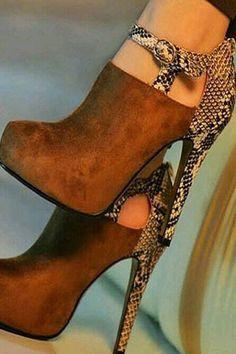 106468869fb Metal Buckles Leopard Print Ankle Boots. Shoespie.com