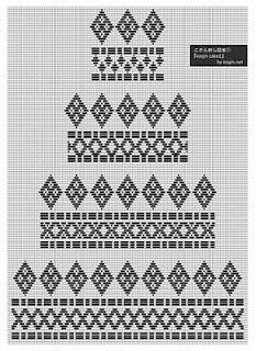 Koginzashi embroidery kogin blog: kogin cake2のつくり方