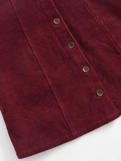 Button Up Cord Pinafore Skirt -SheIn(Sheinside) Pinafore Skirts, Button Up, Cord, Overalls, Mini Skirts, Sheinside, Clothes, Fashion, Tumblr Outfits