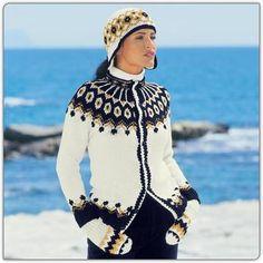 Modell 215/1, Jacke mit Norwegermuster, Mütze und Handschuhe aus Merino-Classic von Junghans-Wolle. « Damenjacken & Mäntel « Strickmodelle Junghans-Wolle « Stricken & Häkeln im Junghans-Wolle Creativ-Shop kaufen