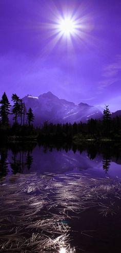 Purple Mountain Landscape