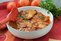 Pork Chops and Chorizo Sausage