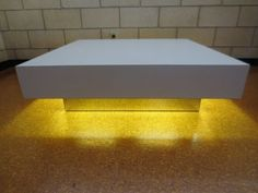 Mid Century Modern Coffee Table White Chrome Milo Baughman Style LIGHTED LARGE  in Antiques, Periods & Styles, Mid-Century Modernism | eBay