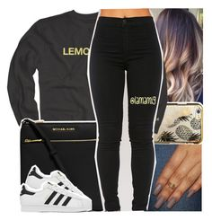 """""""i did it all for you, still you were lonely"""" by lamamig ❤ liked on Polyvore featuring Skinnydip, MICHAEL Michael Kors and adidas"""