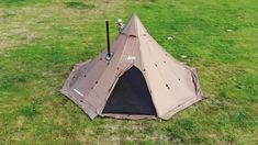 This shelter s a decagon shaped teepee tent designed for cold weather base camping and hunting. A substitute for a wall or outfitter tent. The outer tent sleeps up to 8 people as a fully functional floorless shelter with included removable floor. Survival Shelter, Camping Survival, Survival Tips, Survival Skills, Survival Stuff, Survival Quotes, Camping Cot, Camping Gear, Camping Shelters