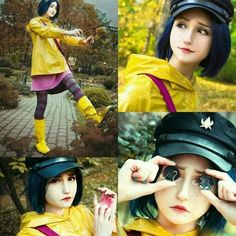 Coraline (♡°▽°♡) (credit the Cosplayer, if you know who she is,thanks<3) http://amzn.to/2qVpaTc Super Hero shirts, Gadgets