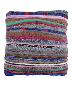 Merging Recycled Wool Pillow by Karma Living! Great for all the wool sweater scraps I have everywhere!
