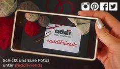 Liebe addi Fans, was habt Ihr denn im Moment auf Euren Strick- und Häkelnadeln? Zeigt uns Eure Projekte mit dem Hashtag #addifriends. Dear addi fans, what is your current handi craft project? Show us with the hashtag #addifriends