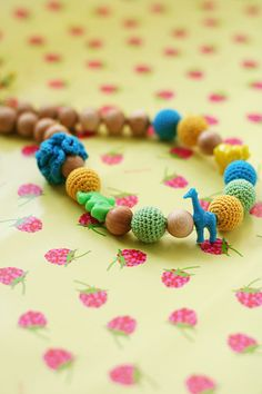Teething mom necklace summer Nursing necklace with by kangarusha
