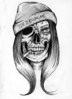 Life is Killing Me is a 6 by 9 inch print of my original drawing. All of my prints are high quality and archival and come hand signed!
