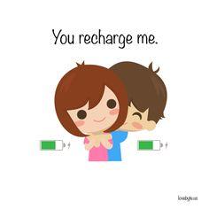 You #recharge me. #love #lovebyte #cute