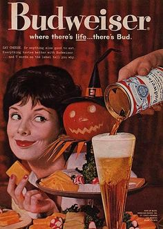 Vintage Beer Halloween Ad