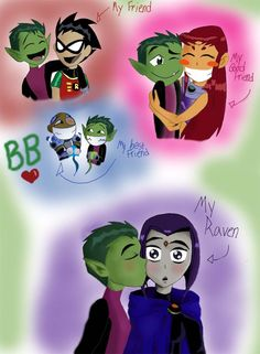 I love BB's relationships with all the other titans. It's cute how he eats icecream with Star, trains with Robin, plays videogames with Cyborg, and Raven, well... BBxRAE!! weee In my mind, BB shoul...