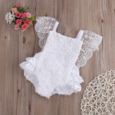 Details about New Kids Baby Girl Clothes Lace Floral Romper Jumpsuit Sunsuit Outfits US Stock Neue Kinder Baby Mädchen Kleidung Lace Floral Strampler Overall Sunsuit Outfits US Stock Baby Girl Romper, My Baby Girl, Baby Girl Newborn, Baby Dress, Baby Lace Romper, Baby Girl Baptism, White Romper, Baby Girl Christening Outfit, Baptism Outfit