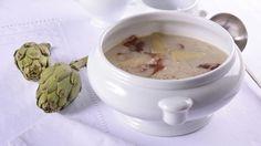 Crema de alcachofas con virutas de parmesano - Receta - Canal Cocina
