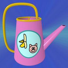 Banana And Pig Watering Can