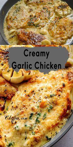 Creamy Garlic Chicken, Garlic Chicken Recipes, Amazing Chicken Recipes, Simple Baked Chicken Recipes, Recipes For Chicken Thighs, Easy Chicken Tenderloin Recipes, Thin Chicken Cutlet Recipes, Dinner Ideas With Chicken, Chicken Recipes For Dinner