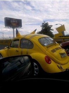 There better be a vanity plate for the Pikachu-mobile.