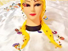 GYPSY hair wrap  gypsy head scarf  bohemian hair wrap   by Nezihe1