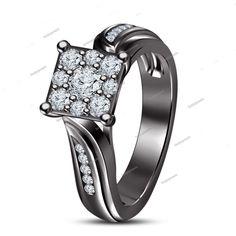 1.00 Carat  White Simulated Diamond New Jewelry Women's Engagement Ring 5 6 7 8 #beijojewels #WomensEngagementRing